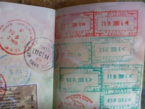 top right my entry stamp into Georgia 28 05 2008...I have had many entry and exit stamps from Georgia in my passport since