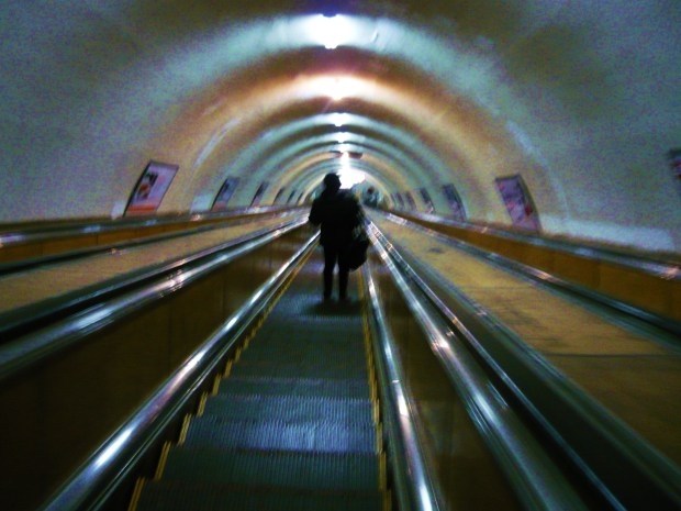 metro escalator