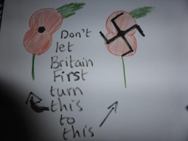 poppy and swastika