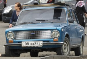 Lada with Armenian plates