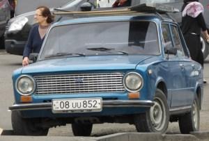 Lada with Armenian plates