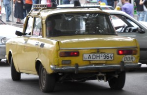Yellow Moskvitch