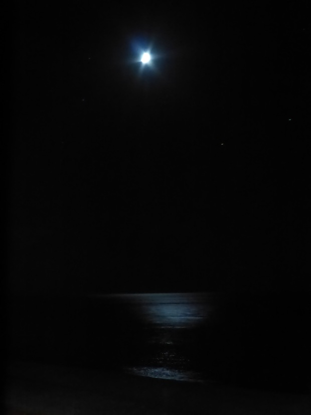 Moon reflecting on Black Sea