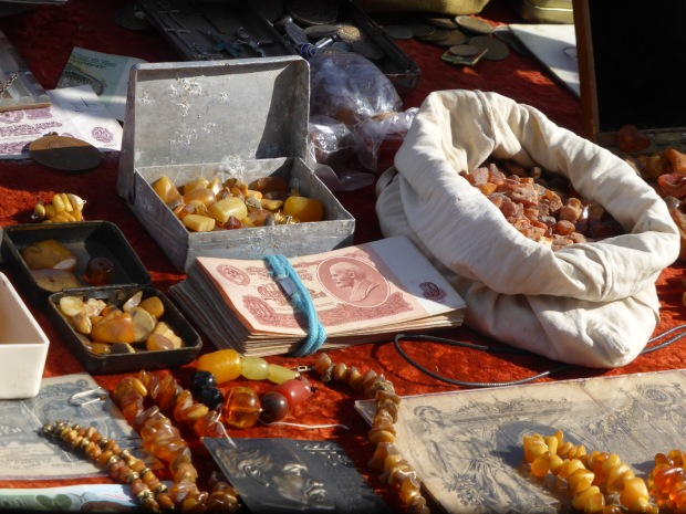 Amber from Kalingrad in a market in Tbilisi