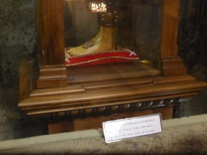 Herein is kept a bone from St Andrew's foot.