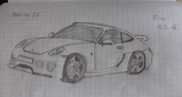 My drawing of a Porsche 911