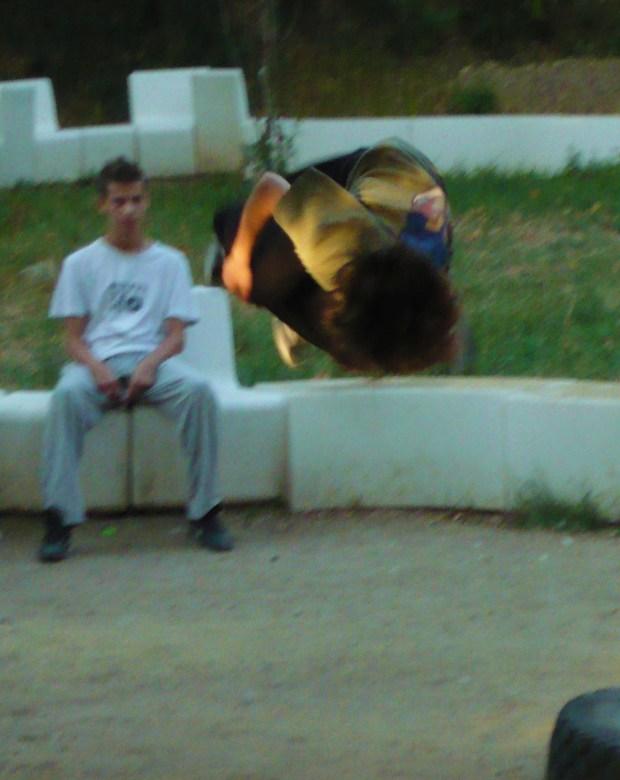 a parkour jump