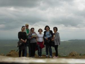 at the top, Azerbaijan behind us