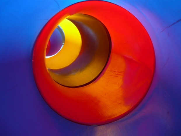 a close up of a children's slide