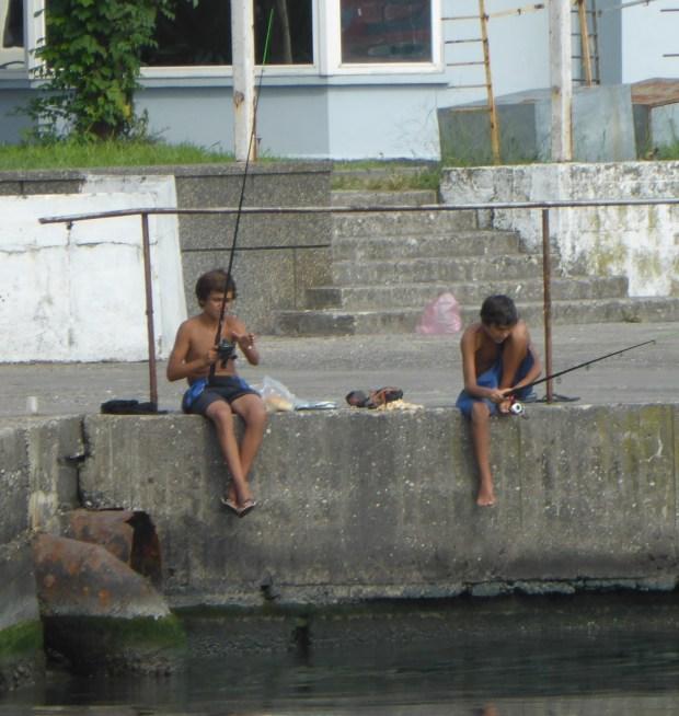 two boys fishing, Batumi