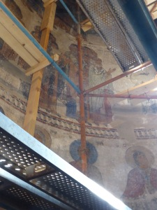 The eleventh century frescoes are among the finest medieval art in the country.