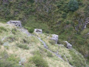 Anatori Crypts, medieval communal tombs with human bones still visible.