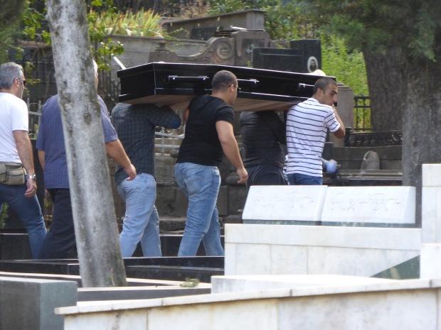 Pall Bearers, open casket