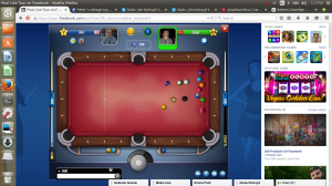 Playing Pool on Facebook