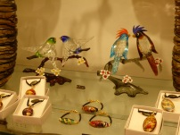 birds made of Murano glass