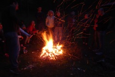 we gather around the fire