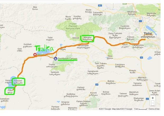 route to Dashbashi