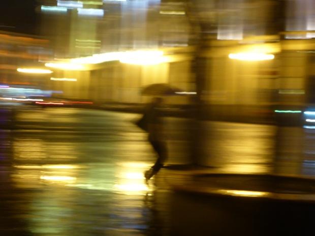 dancer in the rain